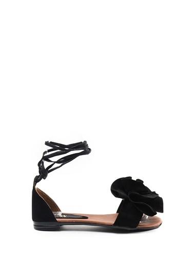 Sapin İpli Sandalet Siyah